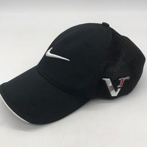 USED L/XL Nike Golf One Mesh Fitted Black Cap